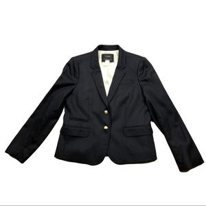 J. Crew Schoolboy 12 Blue 2 Button Career Blazer